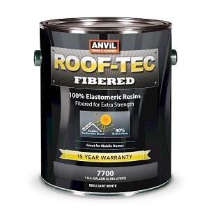 anvil roof-tec fibered elastomeric roof coating