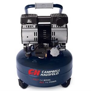 campbell hausfeld best quiet air compressor - 6 gallon pancake