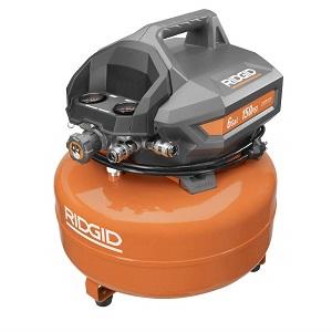 ridgid 6 gallon portable electric pancake compressor